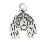 LGU® Sterling Silver Cavalier King Charles Spaniel Charm or CKCS Charm (With Options)