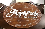 2D Rustic Raised Word Wood Sign Wedding Guest Book Alternate Family Name Wood Sign