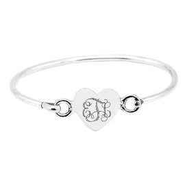 heart diamond bangles accent silver sterling in and bracelet v p bangle