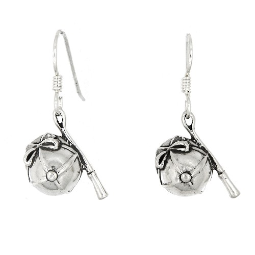 Sterling Silver Jockey Hat earrings