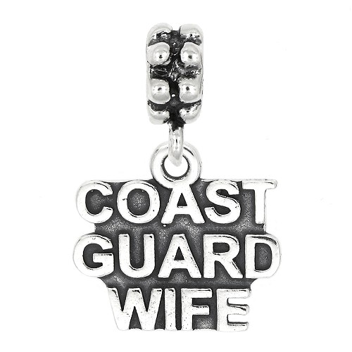 Sterling Silver Dangle Coast Guard Wife Bead