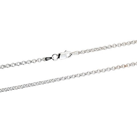 Sterling Silver 2 5 Mm Rolo Chain Necklace
